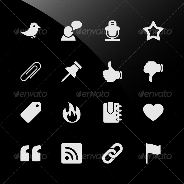GraphicRiver Social Media Web Icons 124747