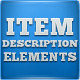 Item Description Elements  - GraphicRiver Item for Sale