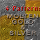 Molten Metal - 2 Patterns - Gold & Silver - GraphicRiver Item for Sale