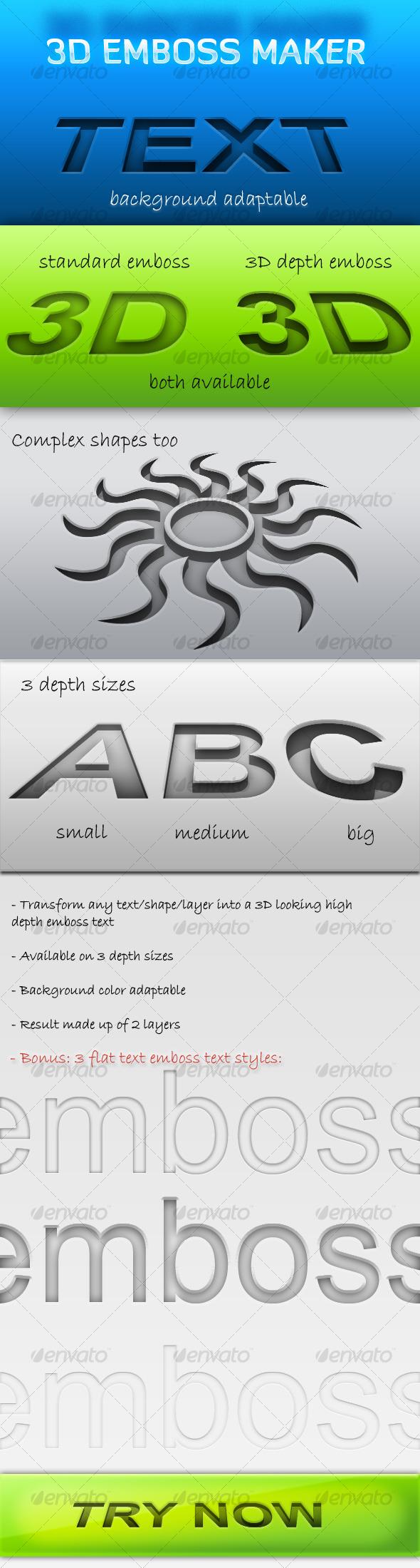 GraphicRiver 3D Emboss Maker 124917