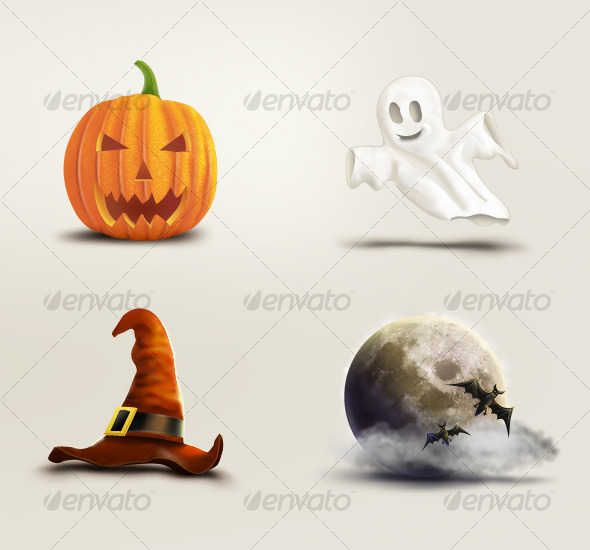 GraphicRiver Halloween Set 125289