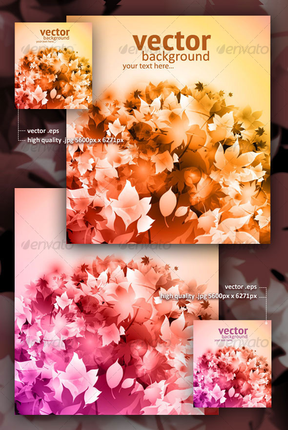 GraphicRiver Vector autumn backgrounds with fallen leaves 125598