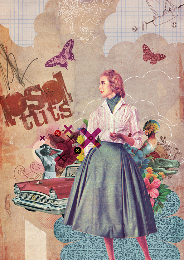 TutsPlus Recycle Vintage Images in a Photoshop Collage 125760