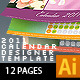 2011 Desk Calendar Designer Template - GraphicRiver Item for Sale