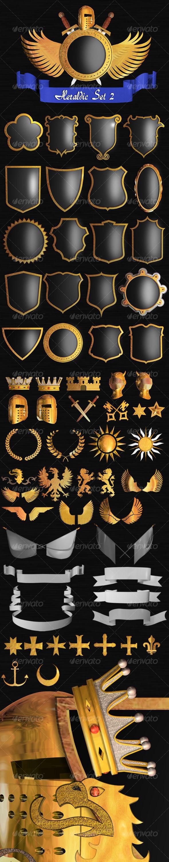 GraphicRiver Heraldic Set II 126357