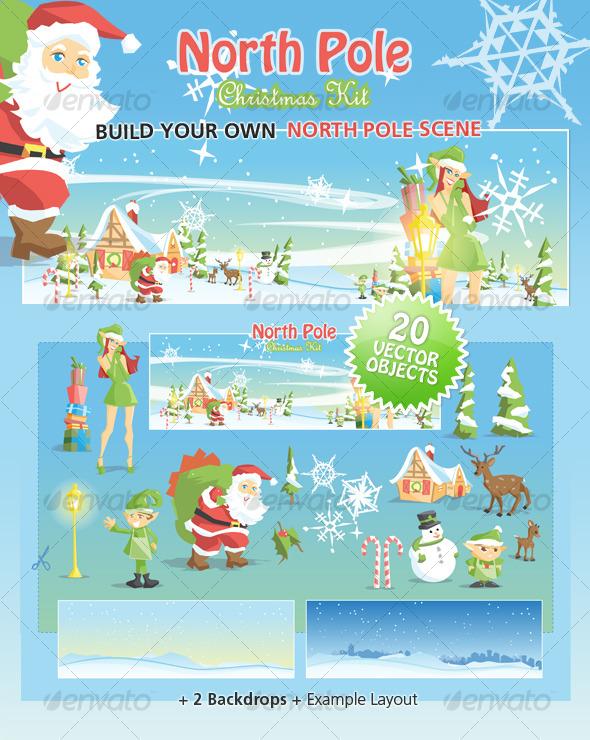 GraphicRiver North Pole Christmas Kit 126267