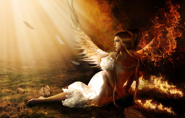 TutsPlus Create a Fallen Angel on Fire Photo Manipulation 127089