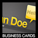 YellowHello Business Cards - GraphicRiver Item for Sale