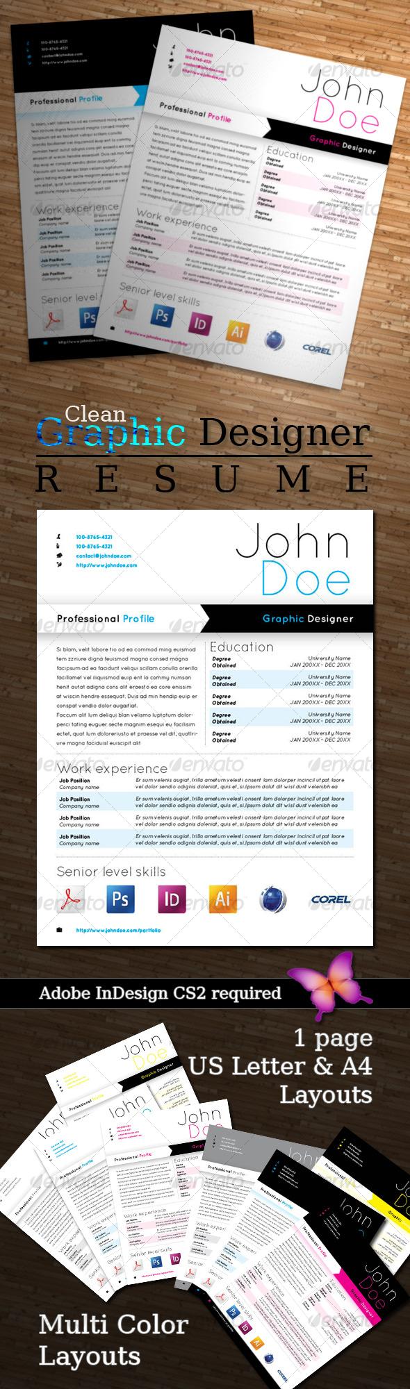 GraphicRiver Graphic Designer Resume 126234