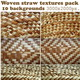 Woven straw textures pack - GraphicRiver Item for Sale