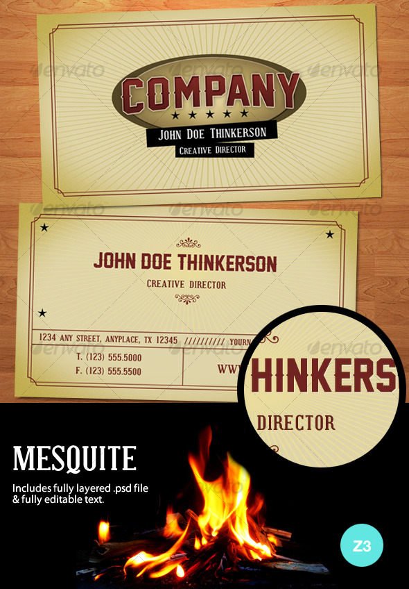 GraphicRiver Mesquite Business Card 127285