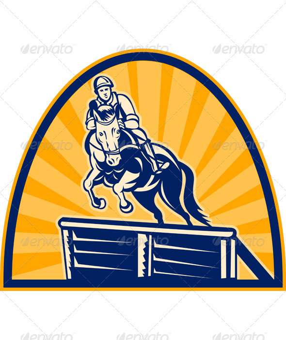 Graphic River Equestrian And Horse Show Jumping Vectors -  Conceptual  Sports/Activity 1017248
