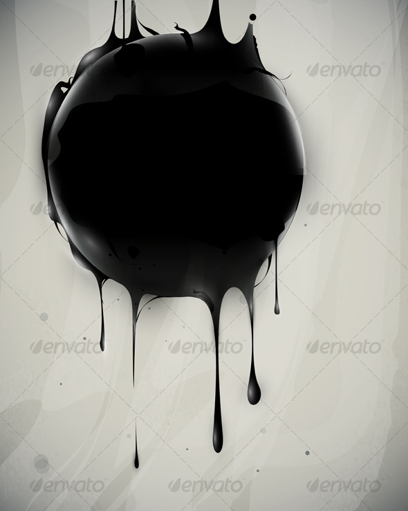 GraphicRiver Abstract oil slick flows with drops 127965