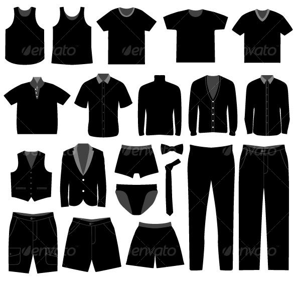 GraphicRiver Men Male Apparel Shirt Cloth Fashion Wear 128032