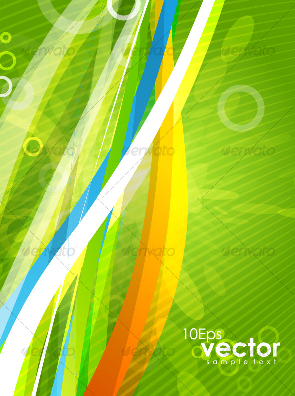 GraphicRiver Colorful wavy abstract background 128105