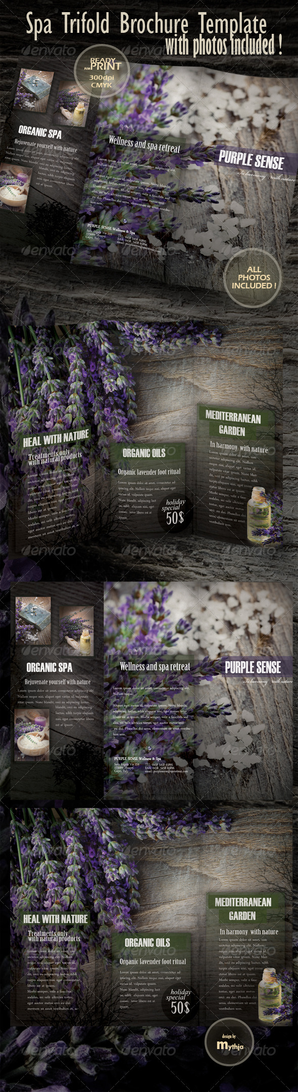 Graphic River Spa & Wellness Trifold Brochure Print Templates -  Brochures  Catalogs 1022201