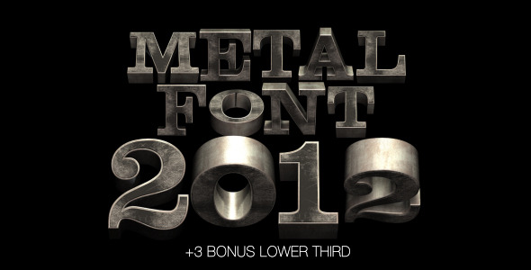 After Effects Project - VideoHive Metal Font 2012 982183