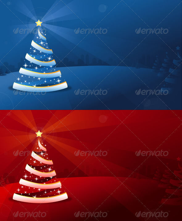 Graphic River Christmas Tree Background Vectors -  Conceptual  Seasons/Holidays  Christmas 1023321
