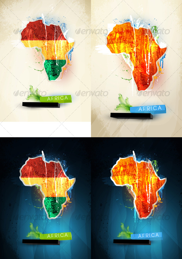 GraphicRiver Abstract illustration of the continent Africa 128622