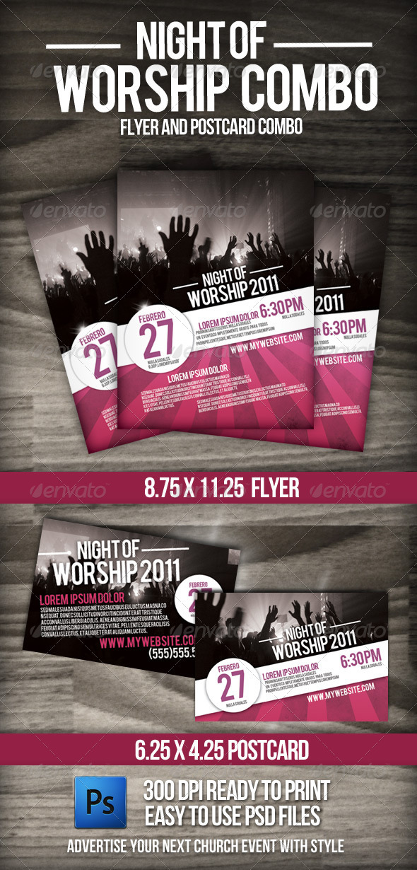 GraphicRiver Night of Worship set 1026694