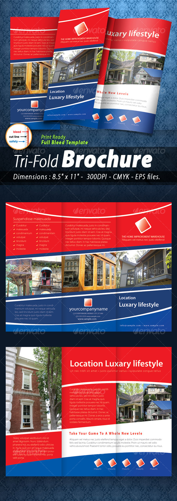GraphicRiver Tri-fold Brochure [Print ready] 128797