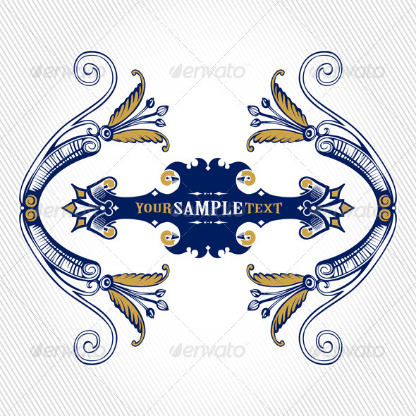 Graphic River Vintage Cartouche Vectors -  Decorative  Flourishes / Swirls 1027806