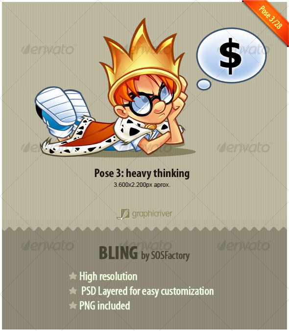GraphicRiver Bling Series 3 28 Heavy thinking 128529