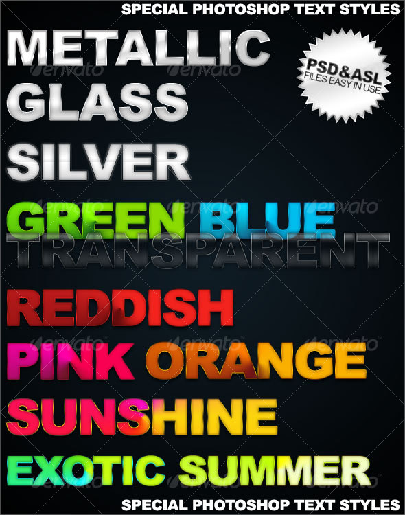 GraphicRiver Special photoshop text styles 42808