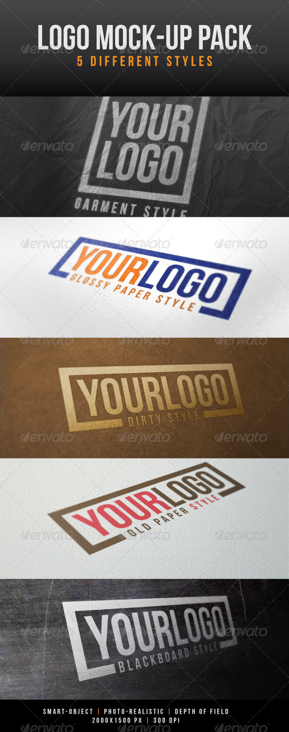 Graphic River Logo Mock-Up Pack Graphics -  Product Mock-Ups 1032217