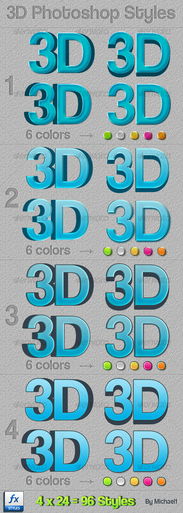 GraphicRiver Advanced 3D Styles 129522