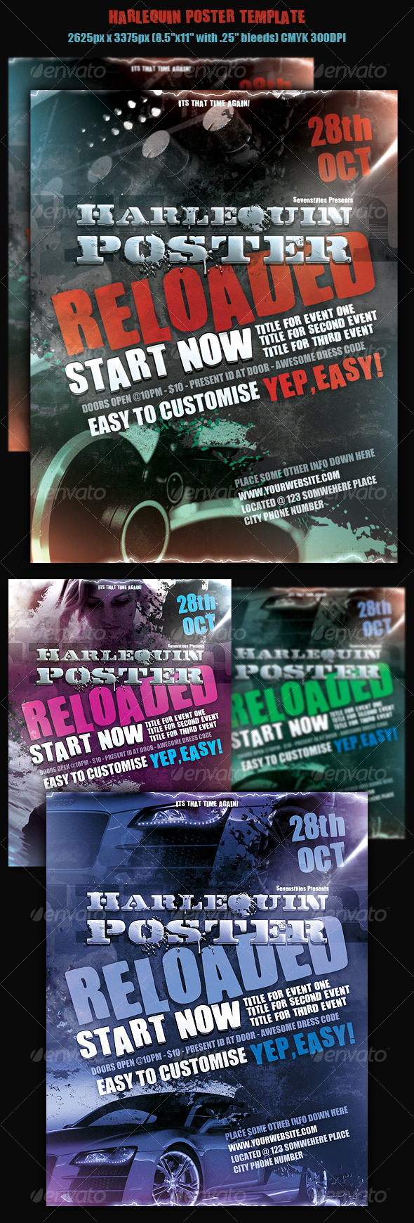 GraphicRiver Harlequin Poster Template 129566