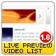 Live Preview XML Video List - ActiveDen Item for Sale