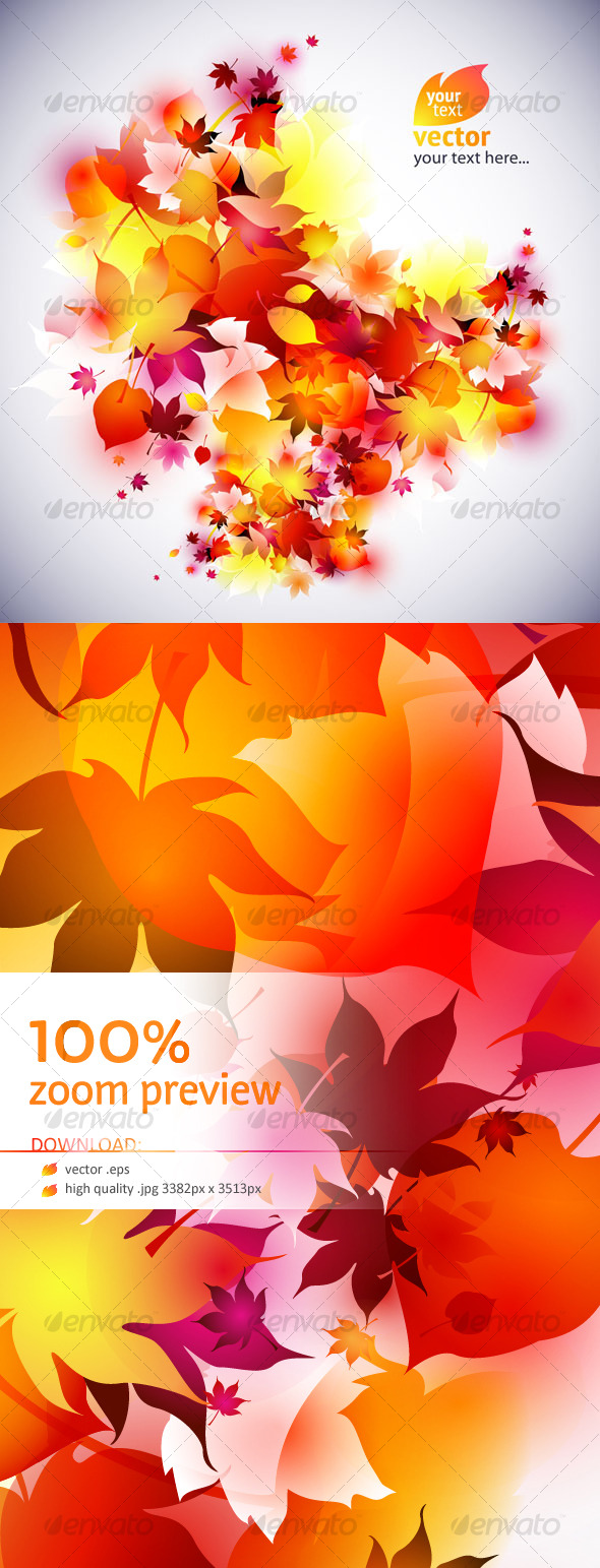 GraphicRiver Vector autumn leaves background abstract 129820