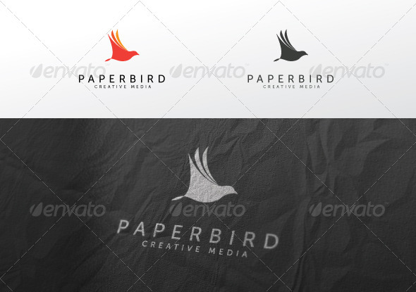 Graphic River Paper Bird Logo Templates -  Animals 1036560