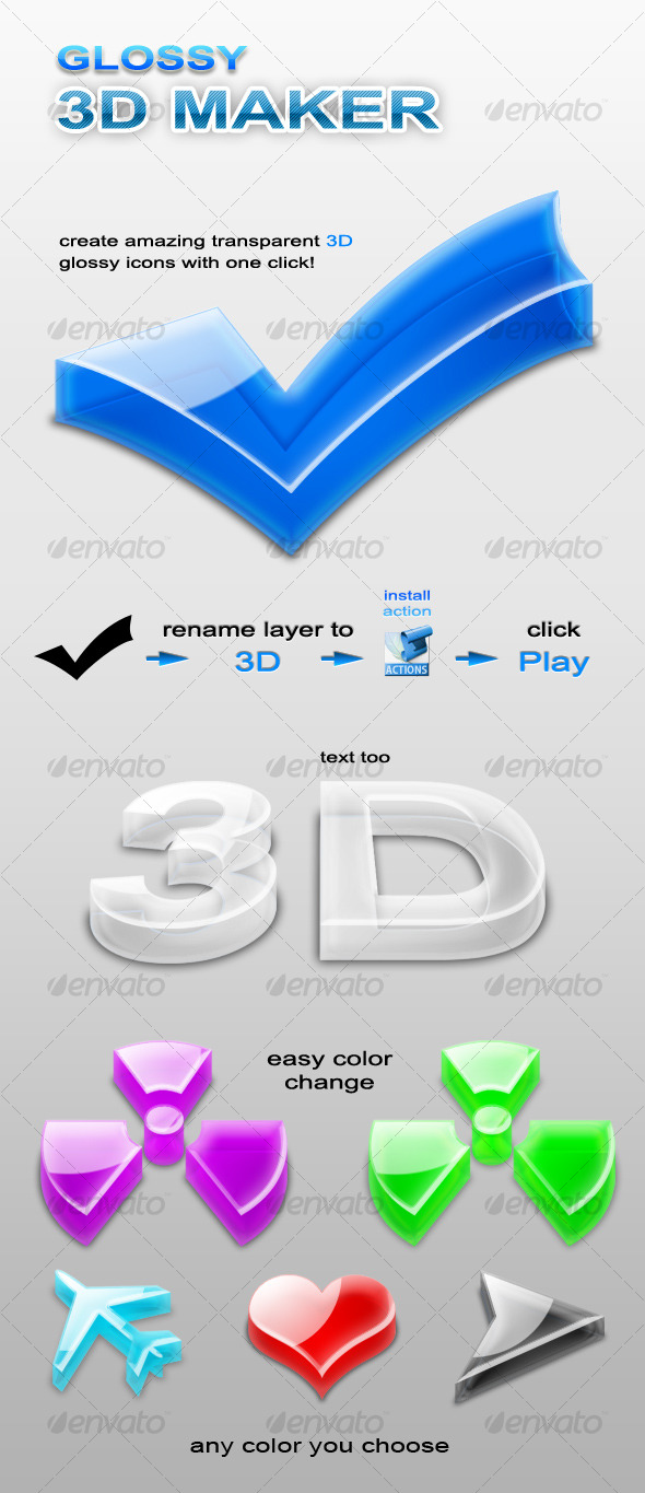 GraphicRiver 3D Glossy Maker 129979