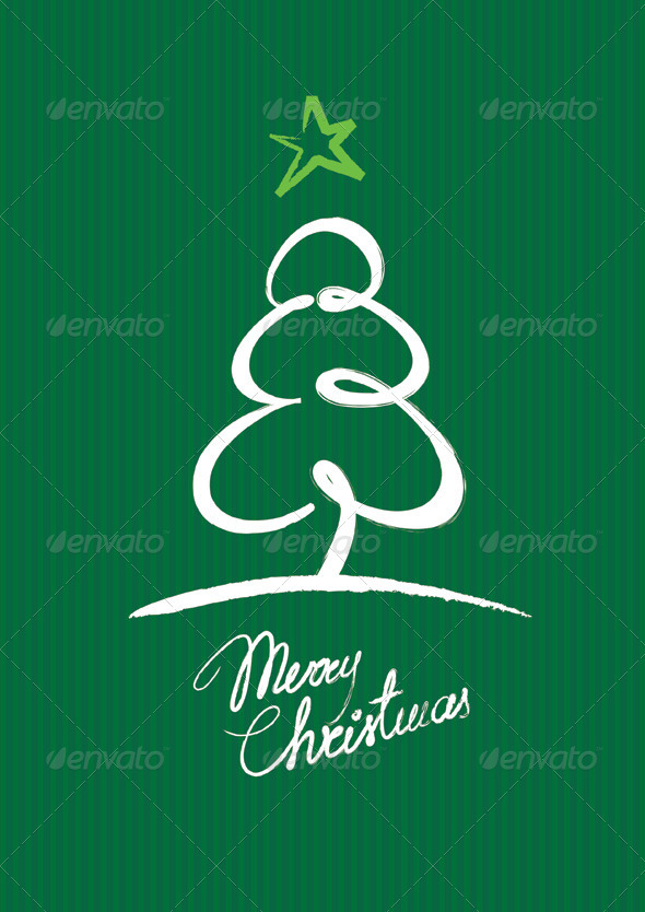 Graphic River Christmas Tree Greeting Card Vectors -  Conceptual  Seasons/Holidays  Christmas 1039891