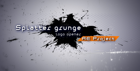 After Effects Project - VideoHive Splatter grunge Logo opener AE project 130221