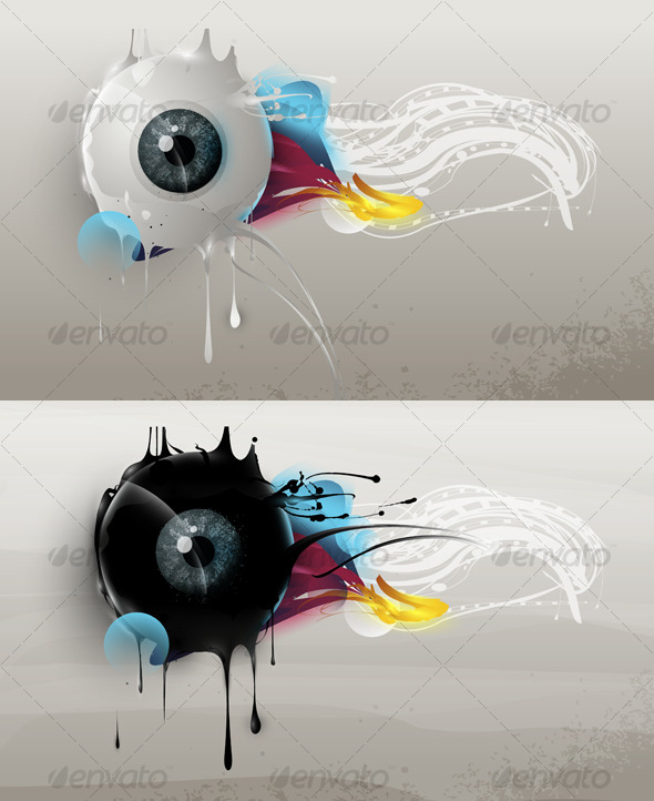 GraphicRiver Human eye with abstract elements and forms 130286