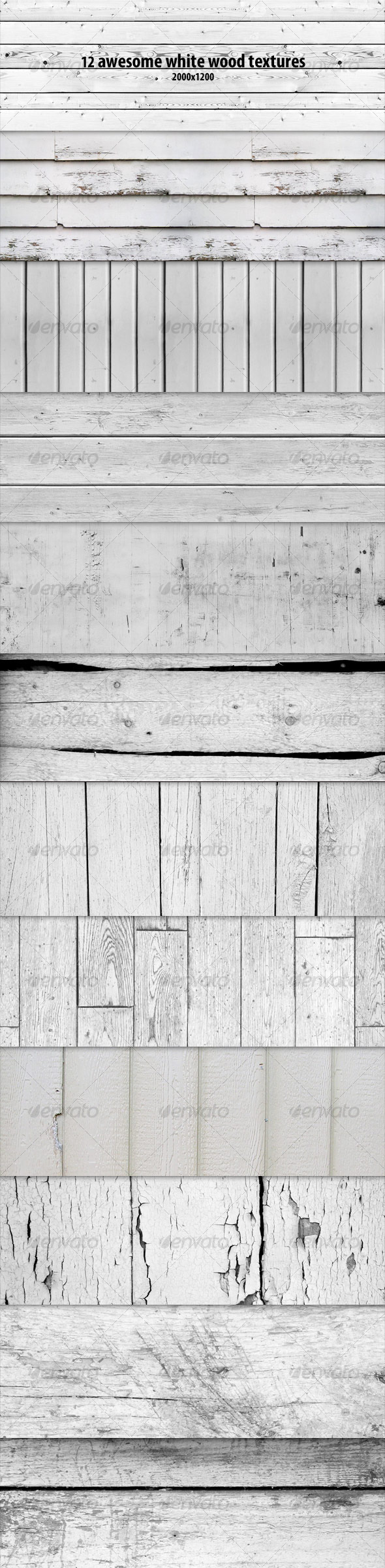 GraphicRiver 12 White Wood Textures 130509