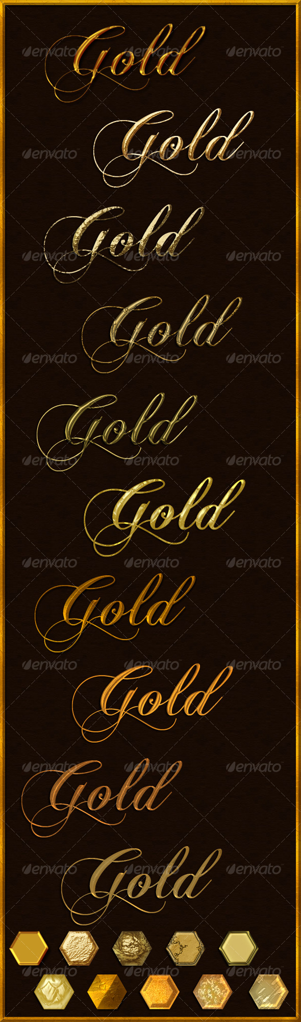 GraphicRiver Elegant Gold 10 layer styles 130617