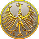 Vector Germany Money Gold Coin with Heraldic Eagle - GraphicRiver Item for Sale