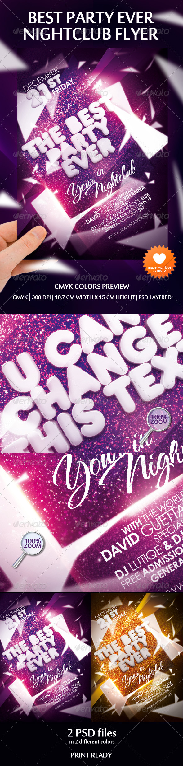 Graphic River Best Party Ever Nightclub Flyer Print Templates -  Flyers  Events  Clubs & Parties 1044514