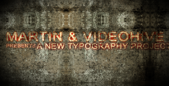 After Effects Project - VideoHive Grunge Wall Typography 129705