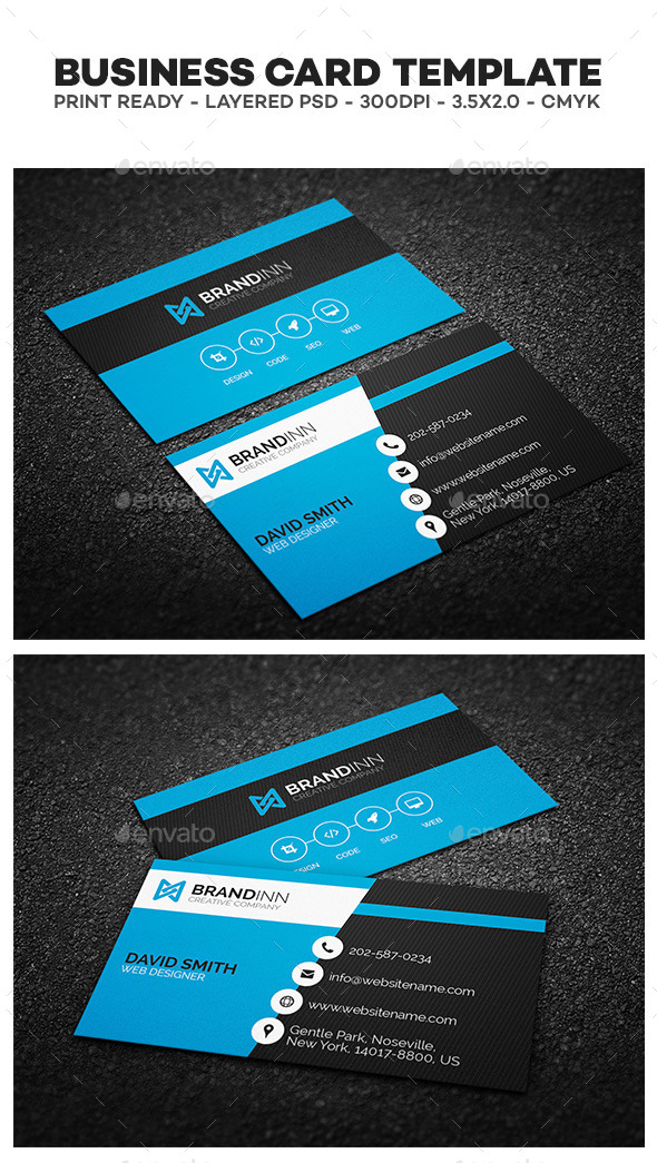 Business Card Printing Template