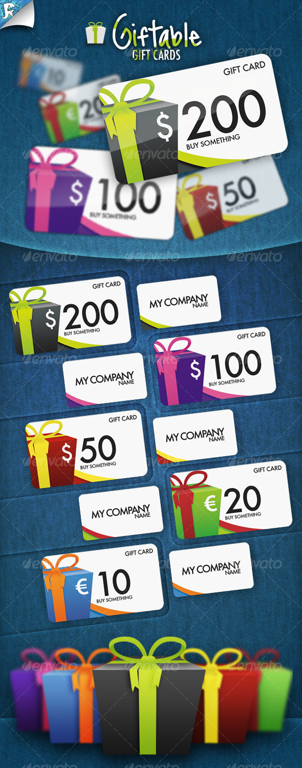 GraphicRiver Giftable Gift Cards It s a present 130769
