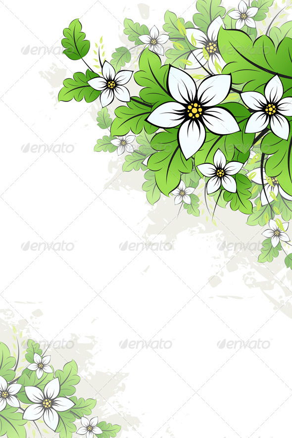 Graphic River Grunge Floral Background Vectors -  Conceptual  Nature  Flowers & Plants 1048569