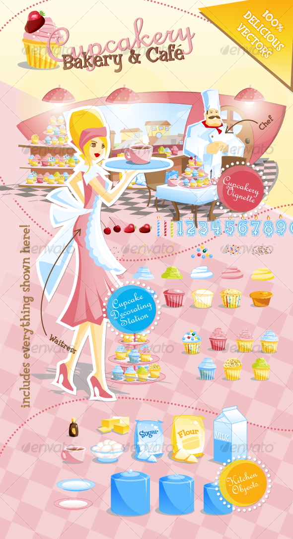 GraphicRiver Cupcakery Bakery and Cafe 131208