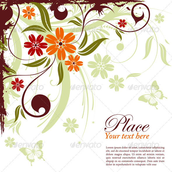 Graphic River Floral frame Vectors -  Decorative  Borders 1049909