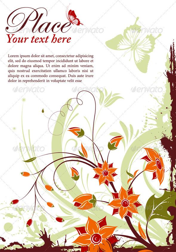 Graphic River Floral frame Vectors -  Decorative  Flourishes / Swirls 1049910