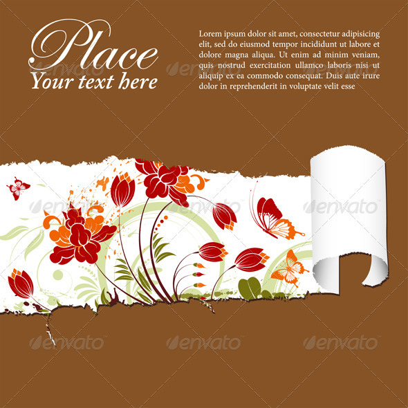 Graphic River Floral background Vectors -  Decorative  Borders 1049916